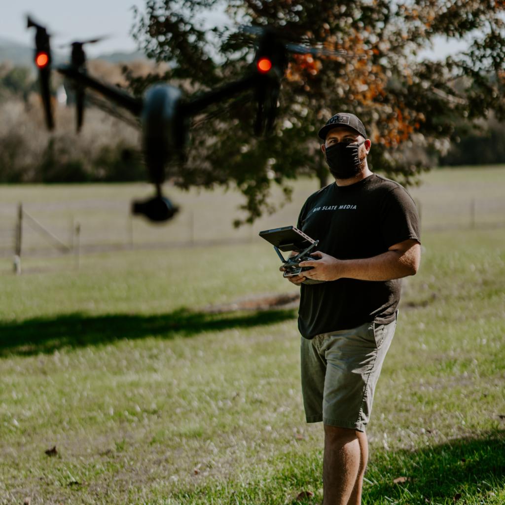 jonathan halley flying a dji inspire 2 drone