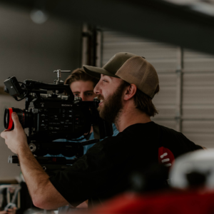 lucas cooper operating a Sony Fs7 camera