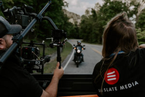 professional production company in knoxville filming motorcycle