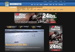 Screen shot of the Bassmaster website