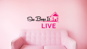 She Buys It Live Cover Photo with logo