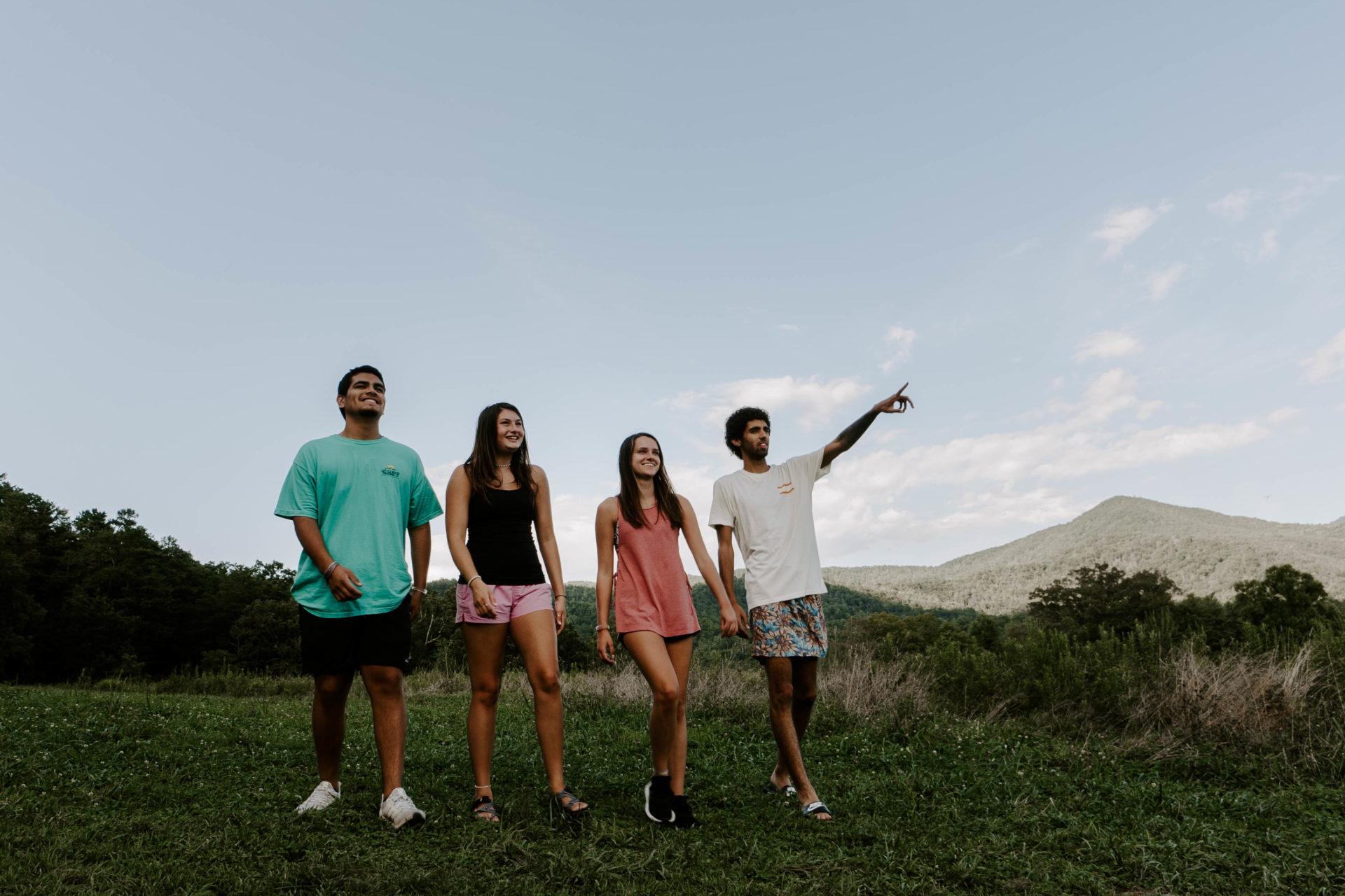 Teens Exploring Cades Cove