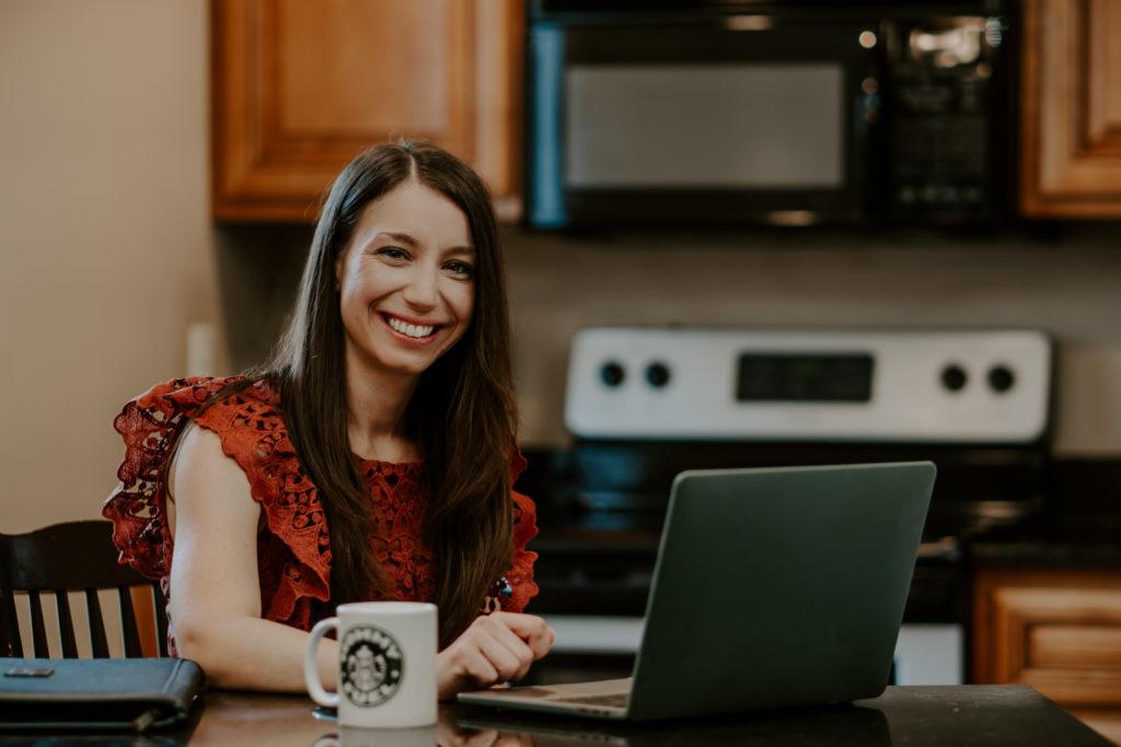 Danielle Dorsey Wellness Coaching Laptop