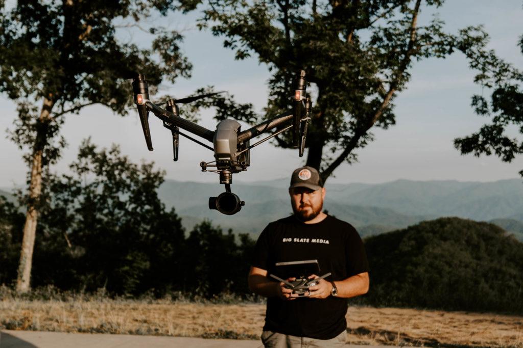 jonathan flying a drone _ dji inspire 2