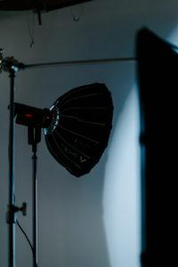 A light in the Big Slate Media studio