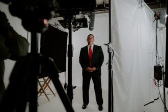 Daniel Carter in the Big Slate Media studio
