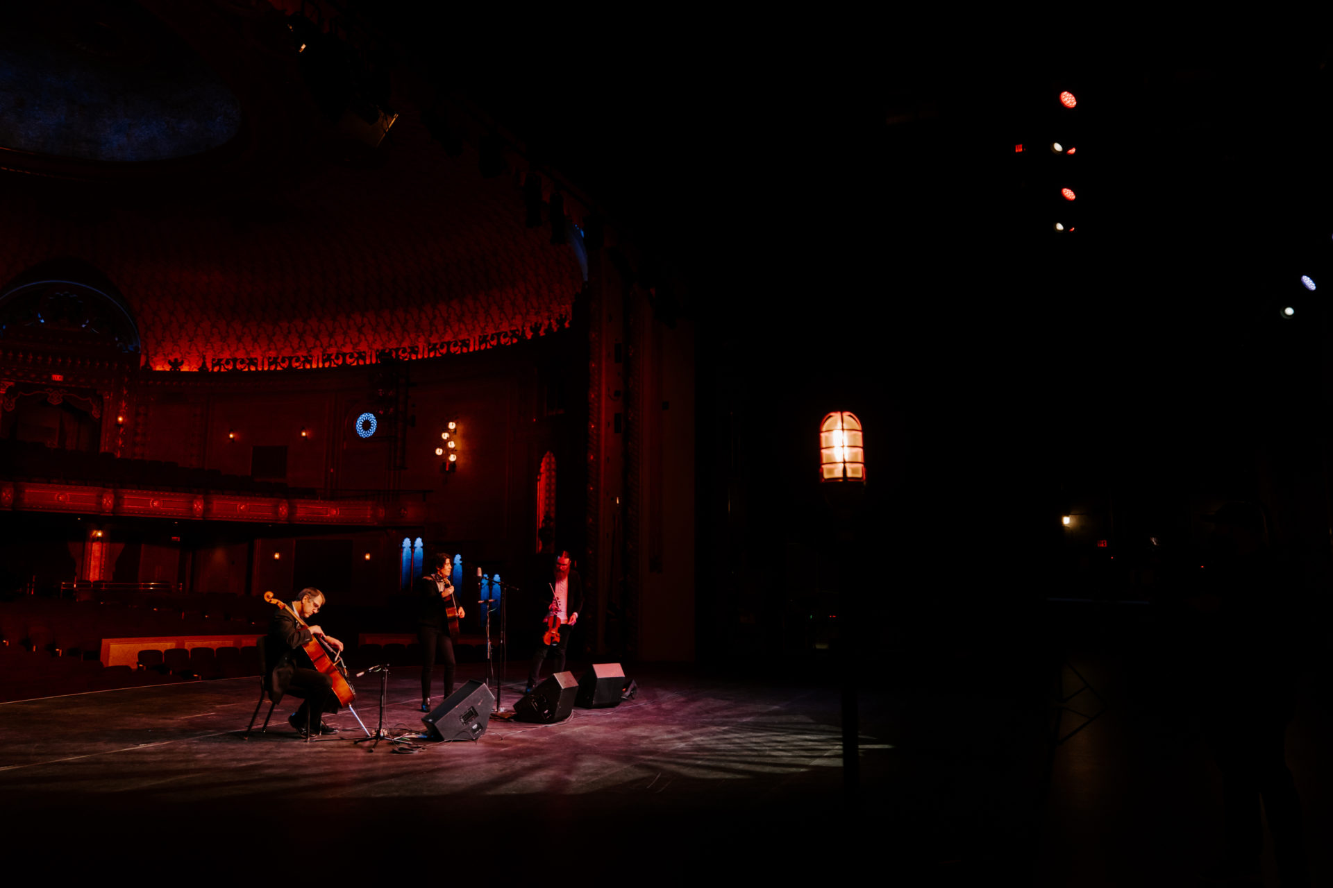 Kukuly and the Gypsy Fuego on the Tennessee Theatre stage for the Ghostlight Series
